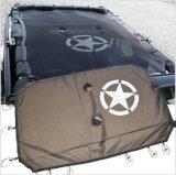J260 Lantsun schwarzer Sonnenschutz-voller Ineinander greifen- Haube-UVschutz mit Speichertaschen für JeepWrangler Jk 4 Tür 2007-2017