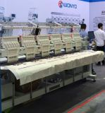 Wonyo seis funções computarizadas misturadas cabeça da máquina do bordado para o tampão/horizontalmente o bordado