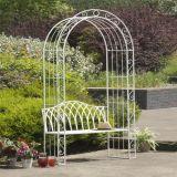 Fancy&#160 moderno; Iron Garden Arch con el banco
