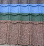 Telha de telhado de pedra colorida revestida de pedra da telha de telhado do metal