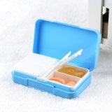 Cadre portatif en plastique de support d'organisateur de pillule de taille de 4 compartiments mini
