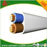 Le câble de H05vvh2-F, actionnent le câble plat, câble souple de PVC
