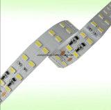 140LEDs/M Samsung 5630の涼しい白6000kの二重列の一定した流れLEDのストリップのリボン