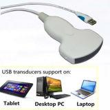 Equipo portable del ultrasonido del USB de la tablilla de la computadora portátil del transductor disponible del ultrasonido