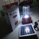 Indicatore luminoso di campeggio ricaricabile solare portatile della lanterna del LED con Multifunctions