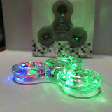 Transparent LED Light Spinner à main Fidget Crystal Plastic