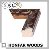 Античная высекая рамка фотоего Brown деревянная для штольни