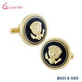 Gemelli di lusso del mestiere del metallo dell'oro di modo di alta qualità per gli uomini