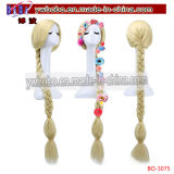 Cosplay Perücke-lang gerade blonde Flechten-synthetische Haarpflegemittel (BO-3075)