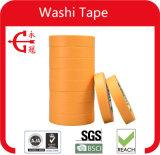 Ленты для маскировки Washi цвета риса желтой напечатанные таможней