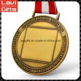 도매 유일한 싼 아연 합금 스티커 인쇄를 가진 주문 기술 3D 둥근 승진 기념품 스포츠 포상 금 금속 스포츠 공백 메달은 로고를 삽입한다