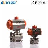 China-pneumatisches PC 3 Teflonkugelventil