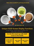 As melhores canecas cerâmicas lisas baratas brancas de venda da qualidade excelente com OLED Bluetooth APP