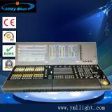 Asa do comando de Ma2 Onpc e asa do Fader com o controlador original do estágio DMX do software do miliampère