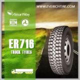 neumáticos del carro de vaciado de los neumáticos del carro pesado 13r22.5 22.5 neumáticos TBR del perfil inferior