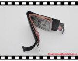 Тонкий бумажник кожи Mens владельца карточки удостоверения личности крена бумажника