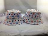 Chapéu impresso costume da cubeta do verão do algodão para o miúdo/crianças