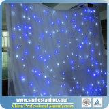 Cortina suave de la estrella de la estrella del LED de la cortina video LED del paño