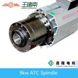 moteur automatique d'axe de modification d'outil de refroidissement à l'air 9kw pour le découpage du bois