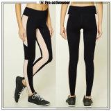 Calças pretas da ioga da ginástica das calças justas novas das mulheres da venda por atacado da chegada