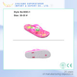 Lovely Printed Children Shoes Cartoon Lady PE Flip Flops