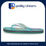 Sandali verdi caldi di cadute di vibrazione di EVA della ragazza di svago della spiaggia di estate