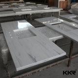 Parte superior de superfície contínua acrílica de mármore Textured da vaidade do banheiro (C1612194)