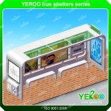 ステンレス鋼のバス待合所のバス停は端末の屋外広告を保護する