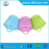 Tamanho plástico de rolamento colorido 35*35cm/40*40cm da cesta de lavanderia