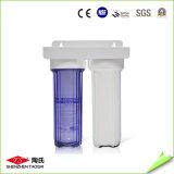10 20 pulgadas doble blanca o tres filtro de una etapa Agua