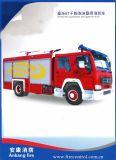 Polvere di HOWO 6t/camion dei vigili del fuoco Gemellare-Agente della gomma piuma