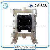 テフロン物質的な圧縮空気の二重ダイヤフラムポンプは製造する