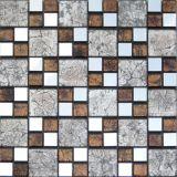 Mosaico de vidro dourado da arte do bloco da cor (VMW3311)