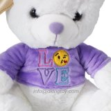 Beautiful Purple and Red Color Plush Teddy Bear Toy Valentine' S Day Gift