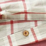 3 partes do Duvet vermelho do algodão ajustaram-se para o apartamento do hotel