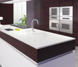 Materiale da costruzione del quarzo dei controsoffitti di pietra di superficie solidi bianchi puri della stanza da bagno