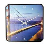Horloge de mur carrée de vente chaude de quartz de 12 pouces