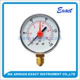 Double mesure de Mesurer-Pression de pression de pointeau avec l'indicateur de pression Alerm-Rouge de flèche indicatrice
