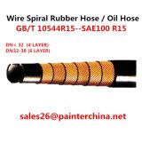 Draht-gewundener Gummischlauch-/Öl-Schlauch-/Hydraulic-Schlauch (GB/T 10544R15--SAE100 R15)