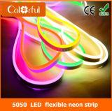 방수 SMD5050 RGB LED 유연한 네온 지구 빛