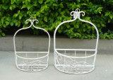 Support de planteur de décor de mur de fleur en métal S/3 pour d'intérieur et extérieur