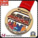 Медаль сувенира золота спорта металла пожалования хода марафона эмали сплава цинка изготовления Китая дешевое изготовленный на заказ отсутствие минимального заказа
