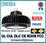 Louro elevado do diodo emissor de luz do UFO de Ra80 PF0.9 130lm/W para a exposição das fábricas