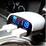 2 USB High - technologie Display Car Charger voor Mobile Phone