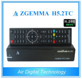 El receptor basado en los satélites DVB-S2+ 2X DVB-T2/C de Digitaces Zgemma H5.2tc del aire se dobla rectángulo superior determinado de registración de Hevc H. 265 de la base