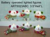 Iluminação acima do ornamento Lights-3asst do boneco de neve