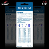 Bateria alcalina 1.5V da pilha da tecla AG1