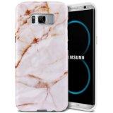Marble White Slim Shockproof Flexível TPU capa de pele de borracha macia para Samsung Galaxy S8