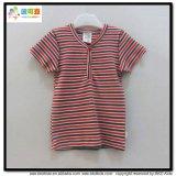 縞の印刷の赤ん坊の摩耗のV首の男の子のTシャツ