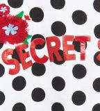 Le T-shirt de la fille en gros faite sur commande avec le POINT de polka